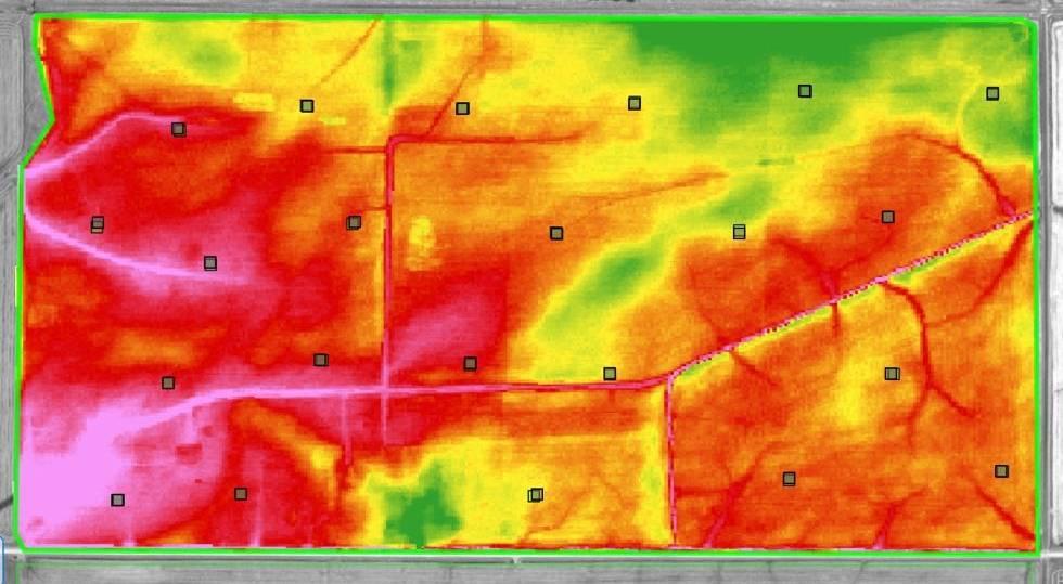 LIdar Elevation Map